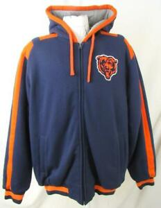 Chicago Bears Mens L Full Zip Embroidered Winter Jacket ABEA 296