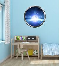 "24"" Porthole Space Window WARP LIGHT SPEED #1 SILVER Wall Decal Sticker Graphic"