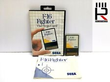 F-16 FIGHTER SEGA CARD Sega Master System PAL 100% Complete genuine & tested WOW