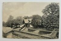 Postcard Railroad Train Station Norwood Pennsylvania 1909