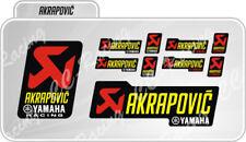 Kit 10 Adesivi Akrapovic YAMAHA RACING resistente al calore Giallo