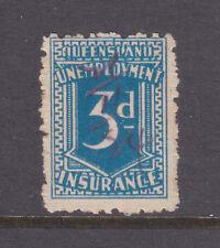 Qld: 3d Deep Blue Unemployment Insurance Used.