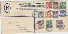 N Rhodesia  - part set on cover  -   lovely stamps -  v low start [s98]
