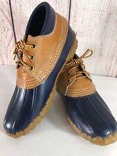 Women's LL Bean Duck Boots Low Cut Rain Waterproof Blue Size 6 Made In USA
