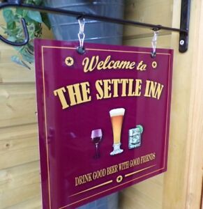 Personalised Hanging Bar sign, Custom Sign, Pub Man Cave Home Bar Garden Sign