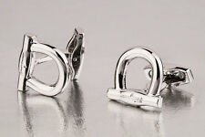 Salvatore Ferragamo cufflinks Silver gancini Mens jewelry brass cuff links
