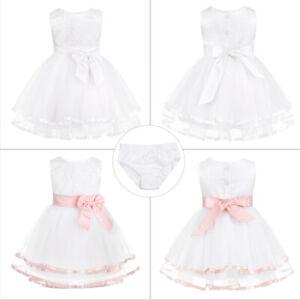 Baby Blumemädchen Taufkleider Geburtstag Prinzessin Kleider Hochzeit Partykleid