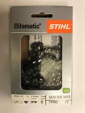 NEW STIHL CHAINSAW CHAIN ht 133 14 in. 71pm3 72 1/4p .43 gauge  72dl 36700050072
