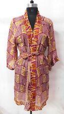 Gown Vintage Silk Sari Short Kimono Women Wear Nightwear Bridal Dressing Kimono