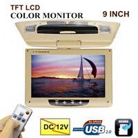 9Inch Car Overhead LCD Screen Display Monitor DVD Player USB/SD248 *245*25mm