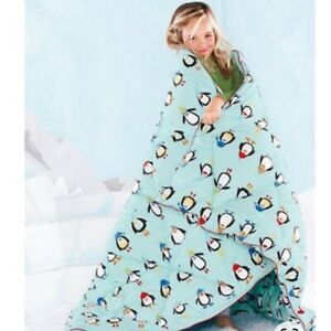 NWB Garnet Hill Penguin Throw/Blanket Sold Out