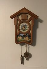 Playful Pugs Cuckoo Clock By Linda Picken 2013 The Bradford Exchange