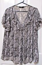 Ladies Expression animal print blouse short sleeves size 20