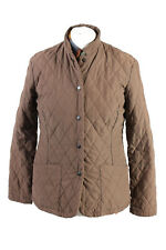 Vintage Barbour Quilted Womens Coat Jacket Lined Outerwear Size 10 Brown - C1868