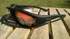 Maxx HD Motorcycle sunglasses Black brown lens foam padding ATV mens womens
