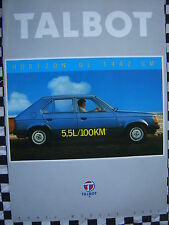 brochure TALBOT HORIZON GL 1981 / français couleurs