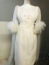Vestido de Novia Original Vintage 1960s Tamaño pequeño por favor compruebe las medidas