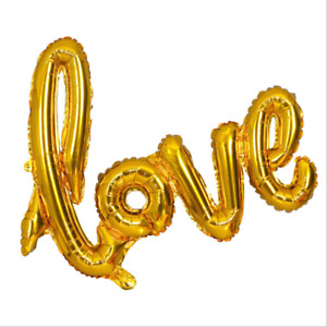 """40"""" Air-Filled Pink/Red/Sliver/Rose Gold """"love"""" Letter Foil Balloon Banners"""