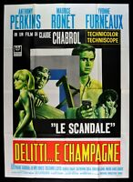Poster Die Scandale Verbrechen E Champagner Perkins Chanrol Ronet Frankreich M50