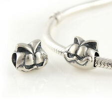 Smiling GARFIELD-Cartoon-Cool Cat- Solid 925 sterling silver European charm bead