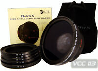 Wide Angle Lens 0.45X fit 52mm 55mm 58mm 62mm 67mm 72mm
