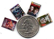 Dollshouse Mini Fun - 1:24 Vampire & Dracula Magazines Set - Cdhm 1:24