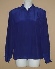 Vintage Anne Klein 1980s Womens Size Medium Long Sleeve Pleated Blouse Top Shirt