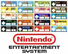 Nintendo NES controller sticker overlay mario zelda battletoads TNMT metroid