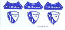 VfL Bochum 1848 Aufkleber Sticker 3 Logos Bundesliga Fussball #136