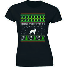 Mudi Christmas Shirt Animal Lover Pet Rescue Dog Owner Women's T-Shirt Ugly
