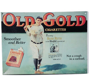 "1990s BABE RUTH Cigarette Advertisement (10""x7"")"
