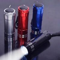 1X 9 LED Aluminium Taschenlampe Taschenlampe Licht-Lampe  ^