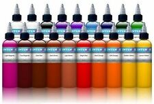 INTENZE TATTOO INK Original Popular Basic Color Set of 19 Bottles 1/2 oz 15 ml