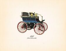 Vintage 1897 OLDSMOBILE (first Olds) Antique Auto Lithograph / Print / Painting