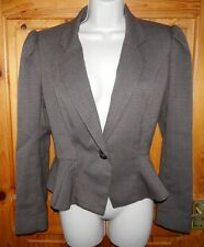 Next edwardian bustle tweed jacket victorian peplum vintage steampunk 40s- UK 12