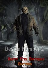 Jason Voorhees Friday 13th Horror Personalised Large Birthday Card Dad Mum ANY