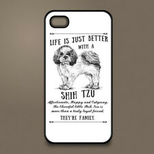 Shih Tzu dog phone case cover Apple iPhone Samsung Galaxy ~ Personalised