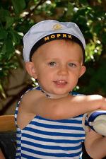 Russian Sailor Stripe Shirt Top Hat Telnyashka Child Sz 2T Boy Halloween Photo