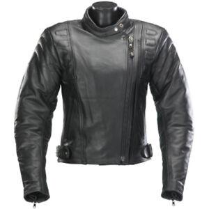 SPADA ROAD LEATHER MOTORCYCLE MOTORBIKE JACKET - BLACK LADIES - Sale