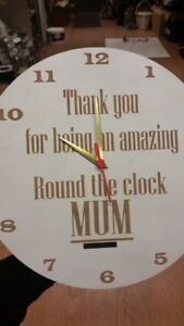 Thank you for being an amazing Round the clock Mum Clock with Stand