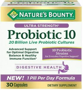 Nature's Bounty Ultra Strength Probiotic 10, Support for Digestive, Immune...