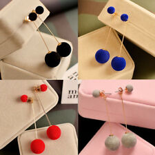 Women Jewelry Luxury Fashion Double Sided Crystal Pearl Beads Ear Studs Earrings