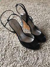 Nine West Women's Wedges Black Heels Size 8M