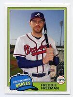 1981 Topps #219 FREDDIE FREEMAN Atlanta Braves Baseball Card - 2018 Archives