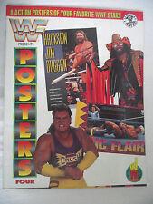WWE / WWF POSTERS MAGAZINE VOL 4 HACKSAW / RIC FLAIR / RANDY SAVAGE / CRUSH  L1