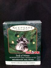 "Hallmark ""Sack Of Money"" Monopoly Miniature Ornament 2000"