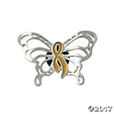Gold Ribbon Butterfly Childhood Cancer Awareness Tac Pin
