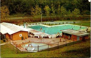 Vtg 1950s Municipal Swimming Pool Morgantown West Virginia WV Postcard