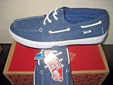 Vans Mens Chauffeur SF Washed Ensign Blue Denim Boat Shoes size 8.5 VN000119CIXO