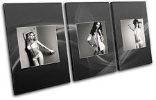 Sexy Girls Underwear Fashion TREBLE DOEK WALL ART foto afdrukken